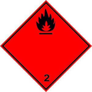 Наклейка (ромб). Класс опасности №2