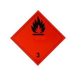 Наклейка (ромб). Класс опасности №3